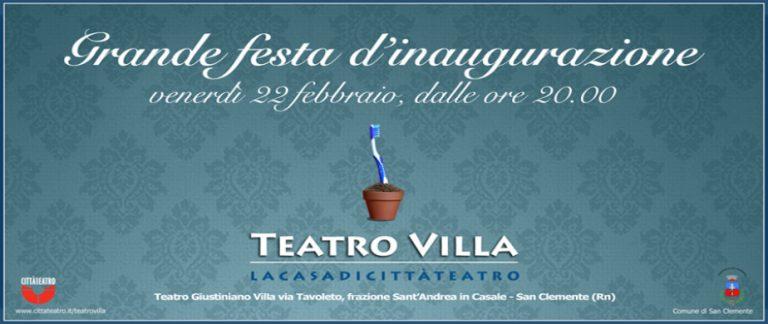 Teatro Villa inaugurazione 2013
